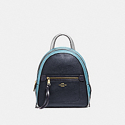 ANDI BACKPACK IN COLORBLOCK - F49122 - MIDNIGHT MULTI/IMITATION GOLD