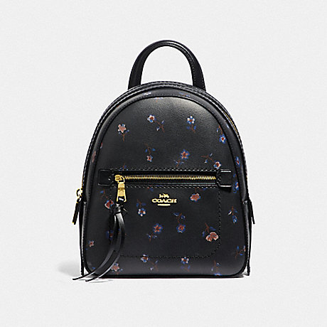 COACH F49123 ANDI BACKPACK WITH VINTAGE PRAIRIE PRINT<br>蔻驰我背包里有复古大草原打印 黑/MULTI/仿金