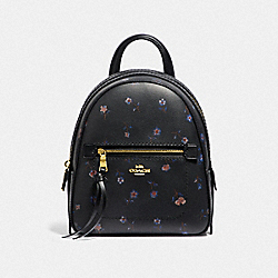 COACH F49123 Andi Backpack With Vintage Prairie Print BLACK/MULTI/IMITATION GOLD