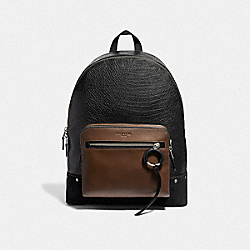 WEST BACKPACK - F49124 - BLACK MULTI/LIGHT ANTIQUE NICKEL