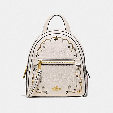 COACH F49125 ANDI BACKPACK WITH STARDUST CRYSTAL RIVETS CHALK-MULTI/IMITATION-GOLD