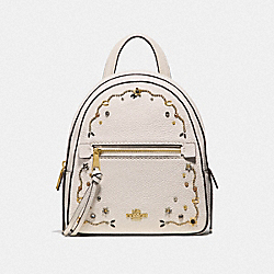 COACH F49125 Andi Backpack With Stardust Crystal Rivets CHALK MULTI/IMITATION GOLD