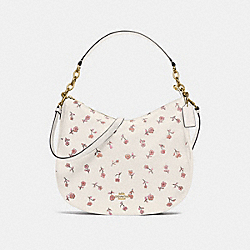 ELLE HOBO WITH VINTAGE PRAIRIE PRINT - F49129 - CHALK MULTI/IMITATION GOLD