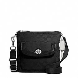 COACH F49148 Park Signature Swingpack SILVER/BLACK/BLACK