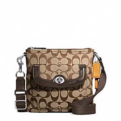 COACH F49148 Park Signature Swingpack SILVER/KHAKI/MAHOGANY