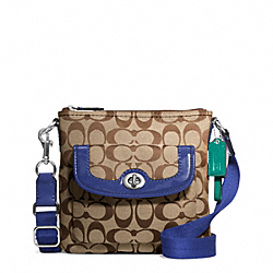 COACH F49148 - PARK SIGNATURE SWINGPACK SILVER/KHAKI/FRENCH BLUE