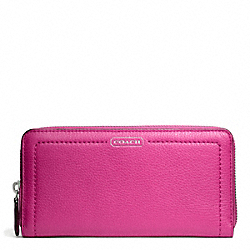 COACH F49151 Park Leather Accordion Zip SILVER/BRIGHT MAGENTA