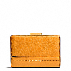 COACH F49153 Park Leather Medium Wallet BRASS/ORANGE SPICE