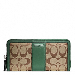 COACH F49159 Park Signature Accordion Zip