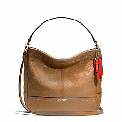 COACH F49160 - PARK LEATHER MINI DUFFLE CROSSBODY BRASS/BRITISH TAN