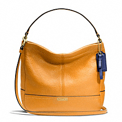 COACH F49160 - PARK LEATHER MINI DUFFLE CROSSBODY BRASS/ORANGE SPICE