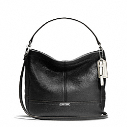 COACH F49160 - PARK LEATHER MINI DUFFLE CROSSBODY SILVER/BLACK