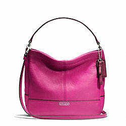COACH F49160 - PARK LEATHER MINI DUFFLE CROSSBODY SILVER/BRIGHT MAGENTA