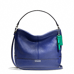 COACH F49160 - PARK LEATHER MINI DUFFLE CROSSBODY SILVER/FRENCH BLUE