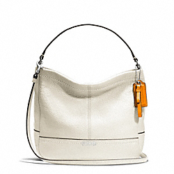 COACH F49160 Park Leather Mini Duffle Crossbody SILVER/PARCHMENT