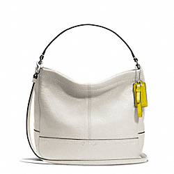 COACH F49160 - PARK LEATHER MINI DUFFLE CROSSBODY SILVER/PEARL