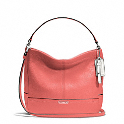 COACH F49160 - PARK LEATHER MINI DUFFLE CROSSBODY SILVER/TEAROSE