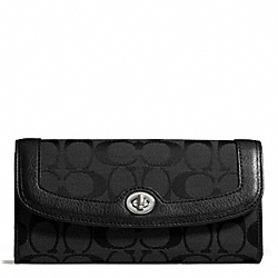 COACH F49165 Park Signature Turnlock Slim Envelope SILVER/BLACK/BLACK
