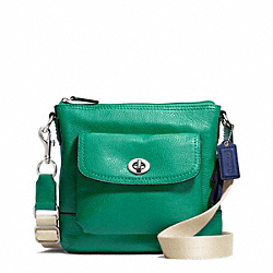 COACH F49170 Park Leather Swingpack SILVER/BRIGHT JADE