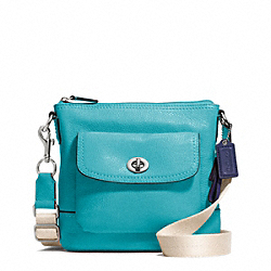 PARK LEATHER SWINGPACK - f49170 - SILVER/TURQUOISE