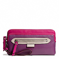 DAISY SPECTATOR LEATHER DOUBLE ZIP WALLET - f49178 - 18677