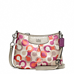 COACH F49196 - MADISON DIAGONAL OP ART FASHION SWINGPACK ONE-COLOR
