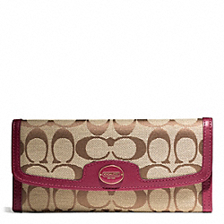 COACH F49218 Signature Soft Wallet