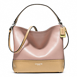 COACH F49228 Colorblock Mini Bucket Bag SILVER/BLUSH/SAND