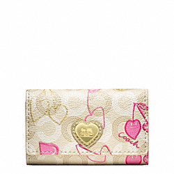 COACH F49241 Waverly Cherry Key Case
