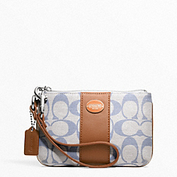 COACH F49279 Weekend Printed Signature Small Wristlet
