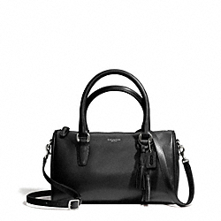 COACH F49292 Mini Satchel In Leather SILVER/BLACK