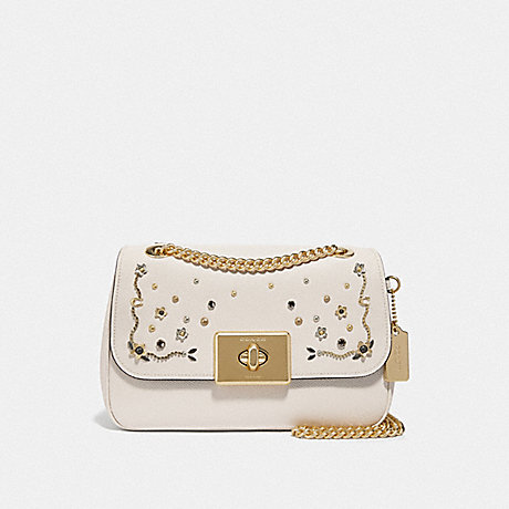 COACH F49311 CASSIDY CROSSBODY WITH STARDUST CRYSTAL RIVETS<br>蔻驰CASSIDY包包用星尘结晶铆钉 粉笔多/仿金