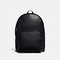 HOUSTON BACKPACK - F49313 - BLACK/BLACK ANTIQUE NICKEL