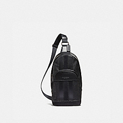 HOUSTON PACK WITH BASEBALL STITCH - F49333 - BLACK/BLACK ANTIQUE NICKEL