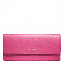 COACH SAFFIANO LEATHER NEW SOFT WALLET - ONE COLOR - F49350