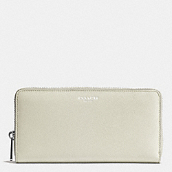 COACH F49355 Accordion Zip Wallet In Saffiano Leather  ANTIQUE NICKEL/SOFT IVY
