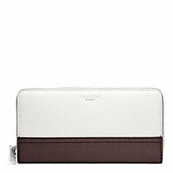 COACH F49381 Accordion Zip Wallet In Saffiano Colorblock Leather