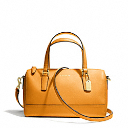 COACH F49392 - SAFFIANO LEATHER MINI SATCHEL BRASS/MARIGOLD