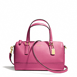 COACH F49392 Saffiano Leather Mini Satchel BRASS/PINK