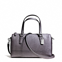 COACH F49392 Saffiano Leather Mini Satchel SILVER/GUNMETAL