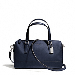COACH F49392 - SAFFIANO LEATHER MINI SATCHEL SILVER/NAVY