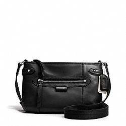 COACH F49425 Daisy Leather Swingpack SILVER/BLACK