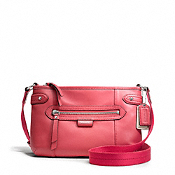 COACH F49425 Daisy Leather Swingpack SILVER/CORAL
