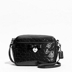 COACH F49430 Embossed Liquid Gloss Mini Camera Bag SILVER/BLACK