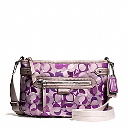 COACH F49443 - DAISY KALEIDESCOPE PRINT SWINGPACK SILVER/PURPLE MULTI