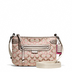 COACH F49452 - DAISY OUTLINE SIGNATURE METALLIC SWINGPACK SILVER/LIGHT KHAKI/GOLD