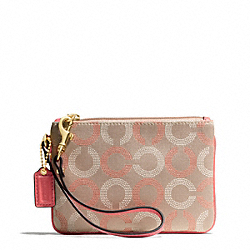 COACH F49460 Ashley Dotted Op Art Small Wristlet