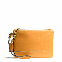 COACH F49475 Park Leather Small Wristlet BRASS/ORANGE SPICE