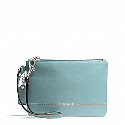 COACH F49475 Park Leather Small Wristlet SILVER/ROBINS EGG