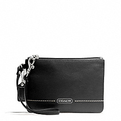 COACH F49475 Park Leather Small Wristlet SILVER/BLACK